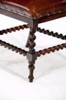 Good Quality Victorian Rosewood Leather Side Chair (10 of 10)