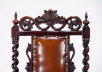 Good Quality Victorian Rosewood Leather Side Chair (5 of 10)
