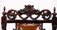 Good Quality Victorian Rosewood Leather Side Chair (4 of 10)
