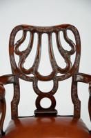 Fine Quality 19thC Leather Upholstered Desk Chair after a Design by Giles Grendey (8 of 18)
