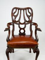 Fine Quality 19thC Leather Upholstered Desk Chair after a Design by Giles Grendey (7 of 18)