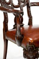 Fine Quality 19thC Leather Upholstered Desk Chair after a Design by Giles Grendey (11 of 18)
