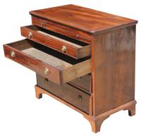 George III Small Mahogany Chest (5 of 7)
