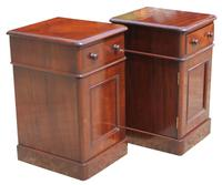 Superb Pair of Victorian Mahogany Bedside Cabinets (2 of 9)