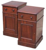 Superb Pair of Victorian Mahogany Bedside Cabinets (3 of 9)