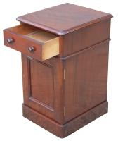 Superb Pair of Victorian Mahogany Bedside Cabinets (6 of 9)