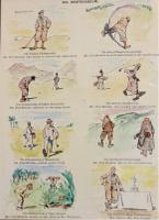 Coloured Humorous Golfing Print 'Nil Desperandum' (2 of 3)
