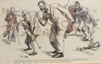 20th Century Humorous Golf Lithograph 'the Infuriated Scot' (2 of 3)