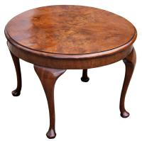 A Lovely Quality Circular Walnut Art Deco Coffee Table (3 of 6)