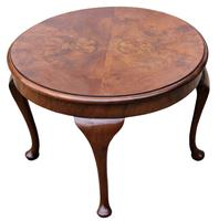 A Lovely Quality Circular Walnut Art Deco Coffee Table (2 of 6)