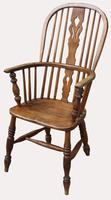 A Lovely Quality Victorian Elm Kitchen Armchair (5 of 5)