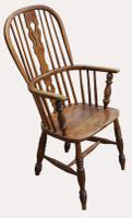 A Lovely Quality Victorian Elm Kitchen Armchair (3 of 5)