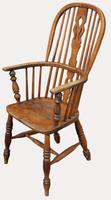 A Lovely Quality Victorian Elm Kitchen Armchair (2 of 5)