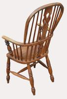 A Lovely Quality Victorian Elm Kitchen Armchair (4 of 5)