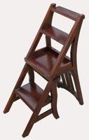 A Set of Lovely 20th Century Mahogany Chair / Library Steps (5 of 7)
