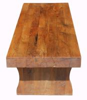 Solid Oak Coffee Table c.1930 (2 of 5)
