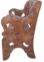 Early 20th Century Carved Hardwood Bench (2 of 3)