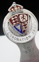 Large Silver Enamel Coronation 1937 Bookmark, Turner & Simpson Ltd
