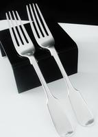 Pair of Antique Silver Dessert Forks, London 1838, William Eaton