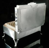 Attractive Silver Jewel & Ring Box, Birmingham 1938, Sanders & Mackenzie