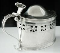 Antique Silver Mustard Pot, London 1799, Peter, Ann & William Bateman