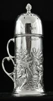 Art Nouveau Silver Sugar Castor, Birmingham 1902, T H Hazlewood & Co