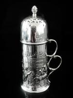 Art Nouveau Silver Sugar Castor, Birmingham 1902, T H Hazlewood & Co (2 of 12)