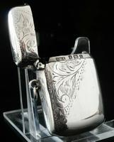 Antique Silver Vesta Case, Samuel M Levi, Birmingham 1902