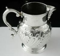 Antique Silver Cream Jug, John Lambe London 1785, Rare Intaglio Duty Mark
