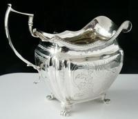 Irish Antique Silver Cream Jug, Richard Sawyer, Dublin 1814