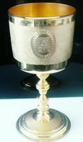 Large Cased Silver Gilt Goblet, Mercers Company, Roskell Roskell & Hunt 1887