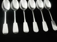 6 Scottish Provincial Silver Dessert Spoons, Robert Keay & Son, Perth c.1830 (5 of 11)