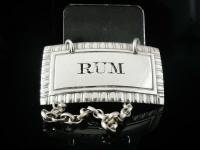 Antique Silver Rum Decanter Label, Newcastle 1829, Thomas Wheatley (2 of 7)