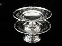 Pair of Silver Openwork Pedestal Dishes, Emile Viner, Sheffield 1933 (12 of 12)