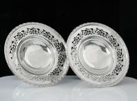 Pair of Silver Openwork Pedestal Dishes, Emile Viner, Sheffield 1933 (2 of 12)