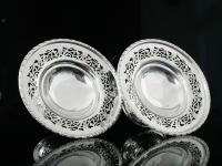 Pair of Silver Openwork Pedestal Dishes, Emile Viner, Sheffield 1933 (9 of 12)