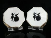 Pair of Octagonal Silver Guilloche Enamel Clothes Brushes, London 1927 (9 of 9)