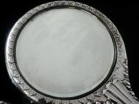 Large Silver Hand Mirror, Reynolds Angels Cherubs, Chester 1923, James Deakin (10 of 12)