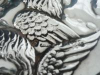 Large Silver Hand Mirror, Reynolds Angels Cherubs, Chester 1923, James Deakin (7 of 12)