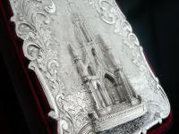 Nathaniel Mills Antique Silver Card Case (Cased) Sir Walter Scott Monument 1844 (3 of 10)