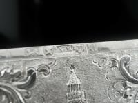 Nathaniel Mills Antique Silver Card Case (Cased) Sir Walter Scott Monument 1844 (8 of 10)