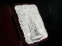 Nathaniel Mills Antique Silver Card Case (Cased) Sir Walter Scott Monument 1844 (10 of 10)