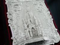 Nathaniel Mills Antique Silver Card Case (Cased) Sir Walter Scott Monument 1844 (4 of 10)