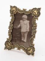 Charming Edwardian Cast Brass Photo Frame, circa 1905