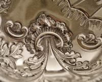 Beautiful Victorian Silver Plated Embossed Serving Dish c.1890 (5 of 5)