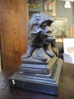Victorian Cast Iron Doorstop in the Form of Lion & Prey