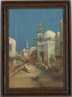 S. Beech - Signed Early 20th Century Oil, North African Street with Figures