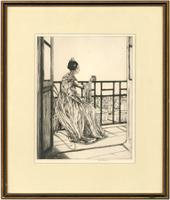 Ethel Gabain - French Etching, Portrait of a Seated Lady