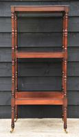 Fine Quality 19th Century Georgian Mahogany Three Tier Whatnot / Display Stand / Shelves (10 of 11)