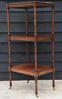 Fine Quality 19th Century Georgian Mahogany Three Tier Whatnot / Display Stand / Shelves (6 of 11)